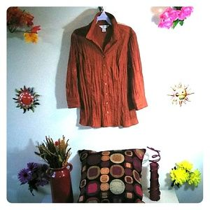 Womens Russet Brown blouse